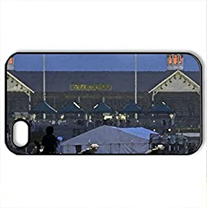 Churchill Downs - Case Cover for iPhone 4 and 4s (Watercolor style, Black)