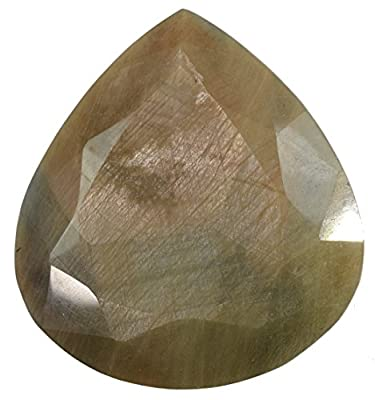 Golden Brown Sapphire Pear Faceted Gem 60mm from uGems