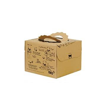 Lvcky - Juego de 2 Cajas para Tartas de Chocolate con Mango de Oso y Caja para Ventanas de 20 cm: Amazon.es: Hogar