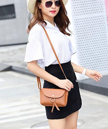 Bag Shop Wallet Cellphone Single Women Crasy PU Mini Bag Black Ladies Pouch Body Classic Leather Cross Shoulder 8AnwCdngq