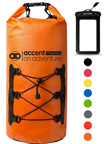 Premium Certified Waterproof Dry Bag Compression Sack Waterproof Phone Case | Roll Top Closure 2 Detachable Shoulder Straps | Kayaking, Snowboarding, Rafting, Boating, Hiking, Camping, Beach (Bag Compression Dry)