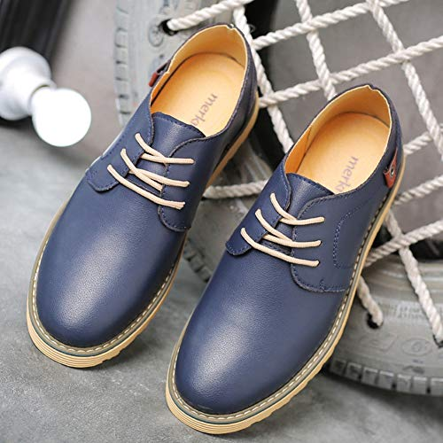 Dimensioni Da Scarpe Con Casual Antiscivolo Eleganti Uomo Grandi Confortevole Moda Blu Fondo Di Piatto Oxford qqz5R