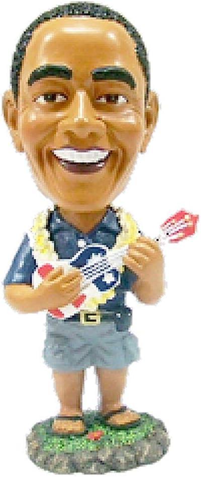 """KC Hawaii Barack Obama Playing The Ukulele Bobble Head Doll 4"""""""