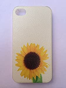 LYYF New Popular and Cute the Sunflower Litchi Grain Hard Case/cover for Iphone 4/4s