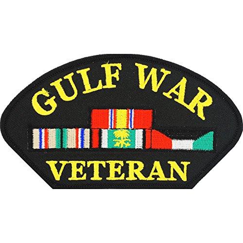 Gulf War Veteran Hat Patch Black & Yellow 2 -