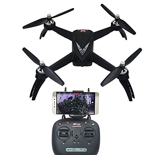 Blomiky B5W Mjx Bugs 5W GPS RC Quadcopter Drone with 1080P FPV WiFi Camera Follow Me Waypoint of Interest, Black