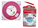 American Girl Me and My Doll 3-piece Activities Bundle with a Truly Me Spinner Activity Game and Craft Set & American Girl Doodle Notebook for Hours of Creative Play