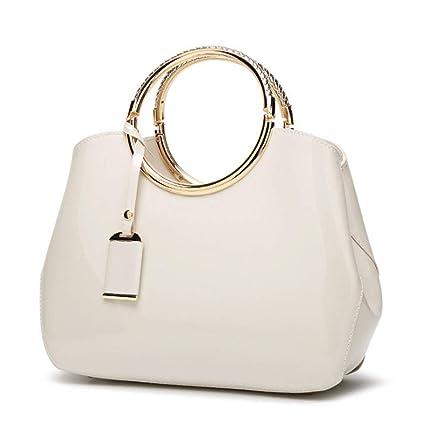 c2360a88045a Amazon.com: ZXW-Handbag Women's Bag Patent Leather Smooth Fashion ...