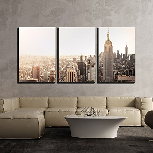 Empire State Building in New York x3 Panels