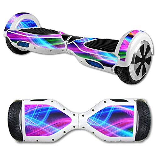 Price comparison product image MightySkins Skin For Self Balancing Mini Scooter Hover Board - Light Waves | Protective, Durable, and Unique Vinyl Decal wrap cover | Easy To Apply, Remove, and Change Styles | Made in the USA