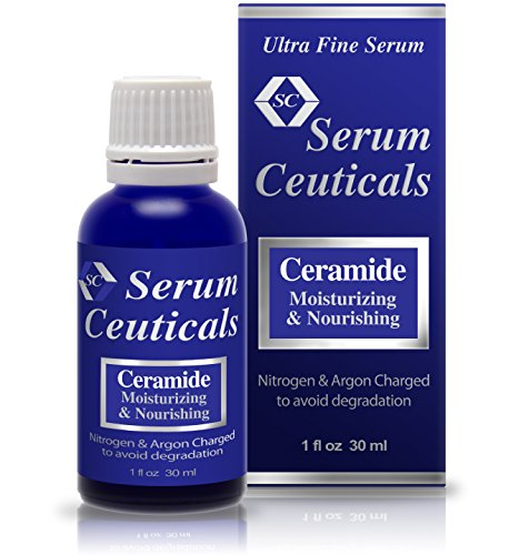 I Max Ceramide Facial Skin Serum Ideal for Moisturizing Extra Dry Skin, Soothing Extra Sensitive Skin, Reducing Wrinkles and Post Chemical Peel Serum.