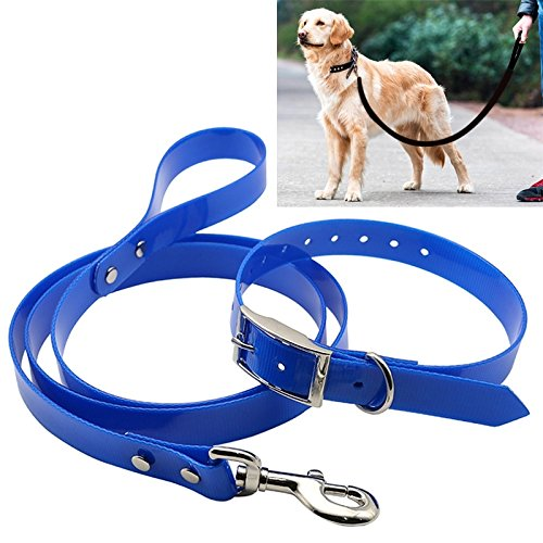 bluee VAXT Collar Sizing  40 cm, Rope Length  120 cm, Sizing  S, Place TPU Corporeal Traction Belt Pet Dogs Collar Telescopic Dog Traction Rope with Dog Leash Handle (color   bluee)