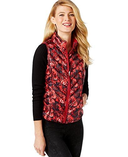 [INC Womens Reversible Regal Rose Print Vest Jacket] (Regal Rose Print)