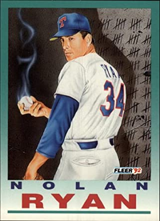 Amazoncom 1992 Fleer Baseball Card 710 Nolan Ryan Near