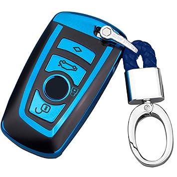 Azul Funda para Llave Smart Key para Coche BMW 1 3 4 5 6 7 ...
