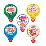 Coffee-Mate Mini Coffee Creamers Variety Now with Shelf Stable Carnation Half and Half (50 Count)