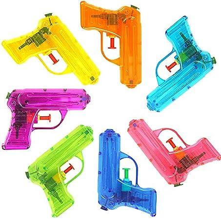 German Trendseller® 1x Pistola de Agua Transparente┃Nuevo┃Regalito┃ Cumpleaños Niños┃Fiesta en la Piscina para niños┃1 Pieza