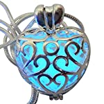 UMBRELLALABORATORY Wishing Heart Fairy Magical Fairy Glow in The Dark Necklace-Blue-SIL 8