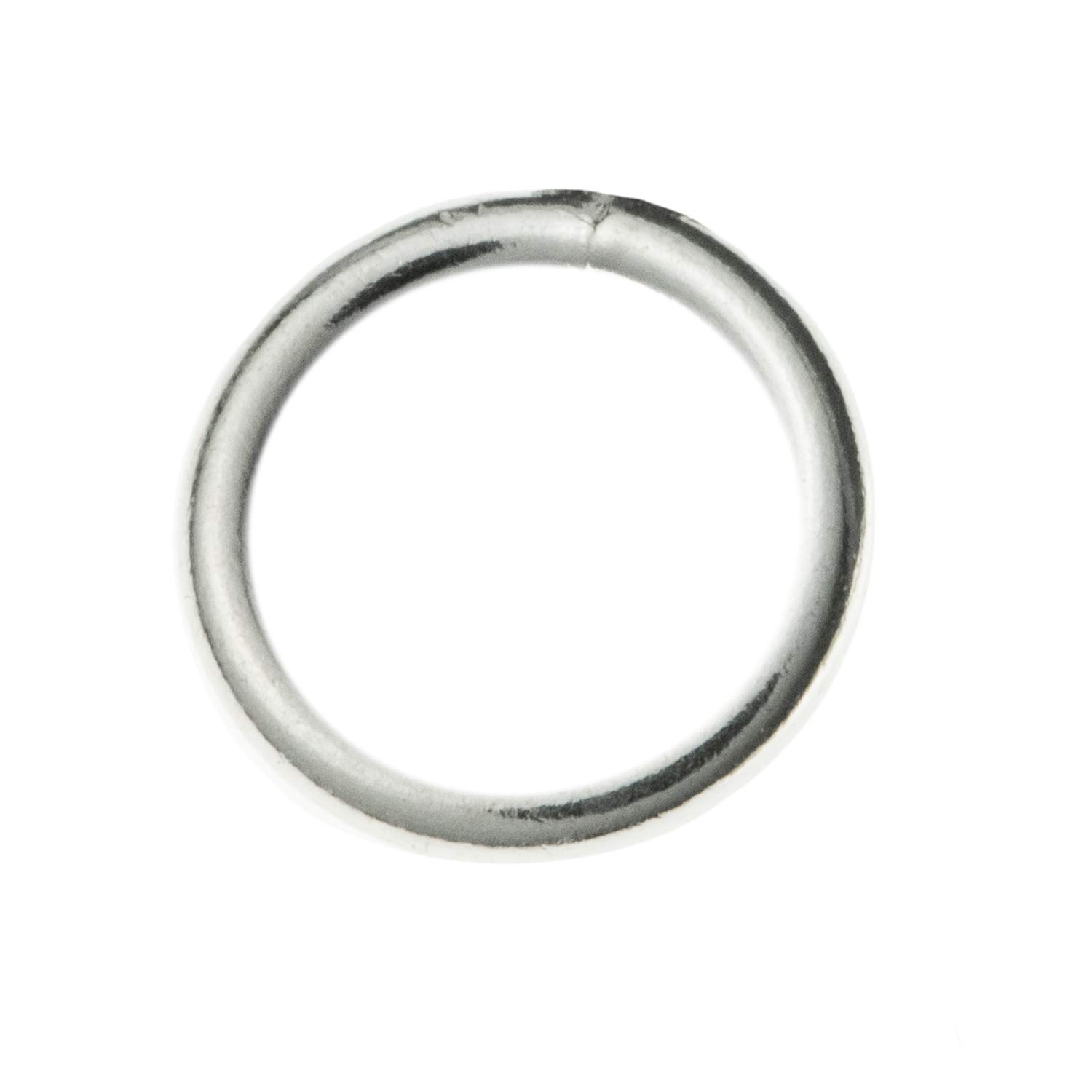 20pcs 925 Sterling Silver Closed Jump Rings Jewelry Findings 6mm