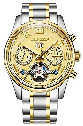 Men's Complications Automatic Self Wind Mechanical Wrist Watch 18k Gold (18k Gold Automatic Watch)