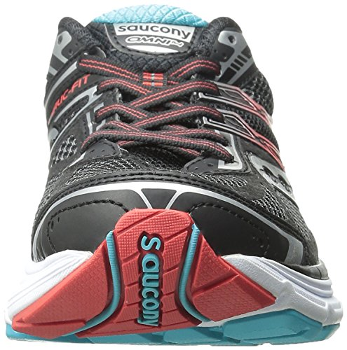 SAUCONY OMNI 14 WOMENS /BLACK/TEAL/RED)