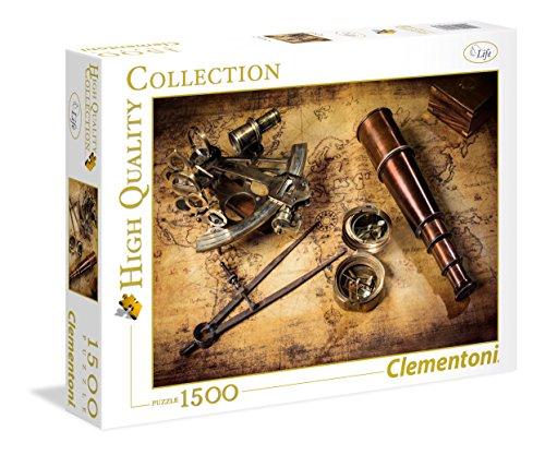 Clementoni Course to The Treasure Contour Puzzle 1500 Pieza(s) - Rompecabezas (Contour Puzzle, Puerto, Niños y Adultos, Course to The Treasure, Niño/niña, Interior)