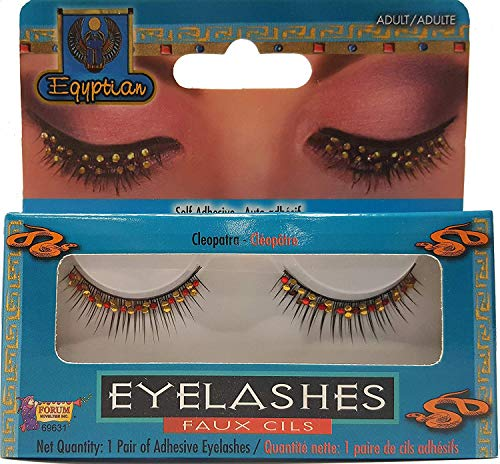 Forum Novelties Cleopatra Rhinestone Lashes, Black -