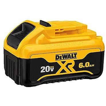 DeWalt DCB206-2 20V MAX 6.0Ah Lithium Ion Premium Battery, ( 2 DCB206)