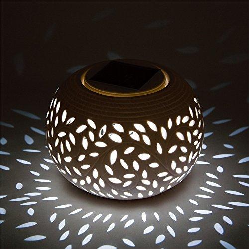 Ceramic Solar Lamp LED Night Light Solar outdoor Lamp Waterproof Sun Powered Garden Light large size