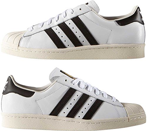 Superstar Blanc Adidas De cassé Noir Blanc Homme Chaussures 80s Gymnastique HxPRFqTR