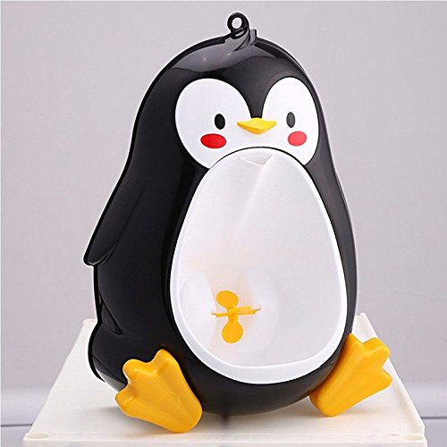 French Wire Mop (Black Baby Boys Penguin Toilet Potty Training Kids Toddler Urinal Bathroom Pee Trainer)