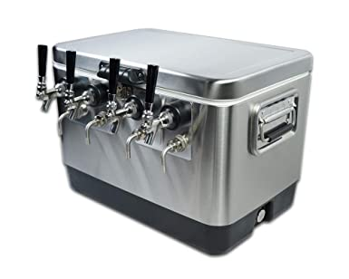 Coldbreak Brewing Equipment CBJB4TSBE - Dispensador portátil de cerveza y vino, caja de 4 tapas