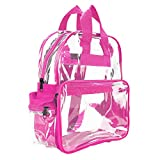 Wholesale Clear Backpacks Small Book Bags 50 Pc DALIX (Hot Pink)