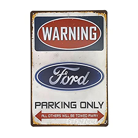 Cartel decorativo 66retro Ford Parking Only, Vintage, Retro ...
