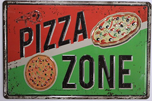 Pizza Tin Sign Kitchen Home Decor Wall Art Retro Vintage Distressed