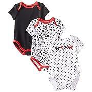 Best Beginnings Baby-Girls Newborn Rose Dot Bodysuits, White, New Born