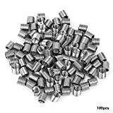100pcs M5 Stainless Steel Wire Helical Screw Thread Inserts Repair Kit(M5*0.8 * 2D)