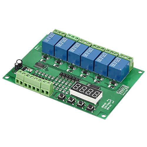 YYS-2 Micro Switch,6-Channel Programmable Relay Module Delay Self-locking Jog Interlock Switch(24VDC)