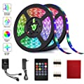 LED Strip Lights, HeySuun 32.8FT/10M 20Key RGB Light Strips, Music Sync Color Changing, Rope Light 600 SMD 3528 LED, IR Remote Controller Flexible Strip for Home Party Bedroom DIY Party Indoor Outdoor