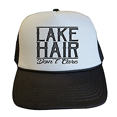 Funny Womens Trucker Hats Lake Hair Dont Care Royaltee Lake Party Collection