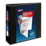 Avery Nonstick Heavy-Duty EZD Reference View 3 Inch Black Binder (79693)