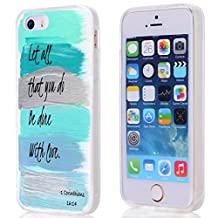 Let it be Free Case for Iphone 5S, iphone 5 Case Christian Quotes Bible Verses 1 Corinthians Let All That You Do Be Done With Love