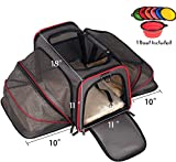 Petpeppy.com The Original Airline Approved Expandable Pet Carrier By Pet Peppy- TWO SIDE Expansion - Designed For Cats - Dogs - Kittens - Puppies - Extra Spacious Soft Sided Carrier! (Black)