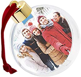 Shot2go Christmas Photo Bauble in gift box - holds 2 x 80mm photos