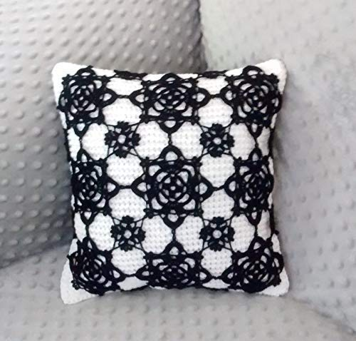 Amazoncom Knitted Black And White Throw Pillow And Elegant