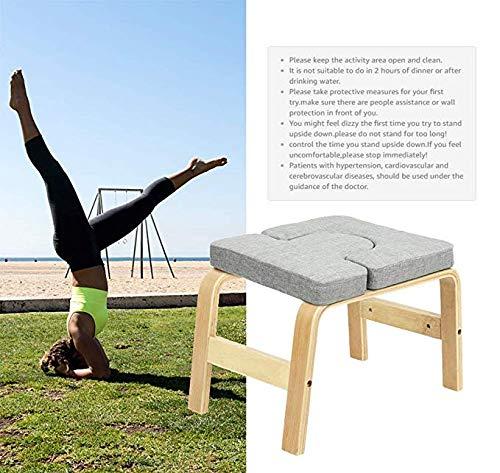 Ellyeall Silla inversión Yoga Headstand Taburete-Ideal ...