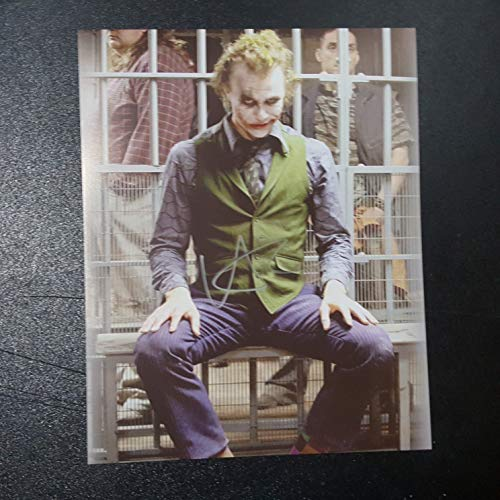 - Heath Ledger - Autographed Signed 8x10 inch Photograph Poster BATMAN Dark Knight Rises COA 02