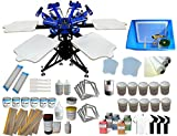 6-6 Color Screen Printing Kit with Materials 6 Color 6 Station Silk Screen printing Machine