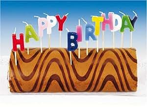 Muñeco de peluche-Set feliz cumpleaños velas 13 teilig de Riethmüller