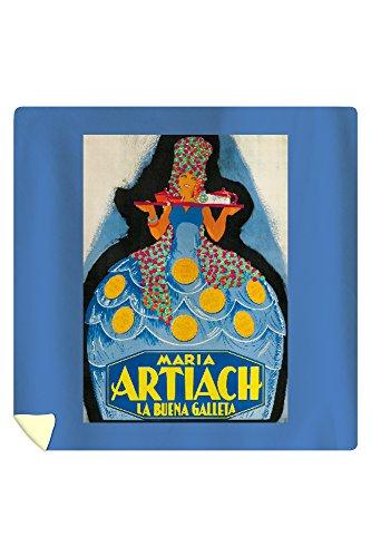 Maria Artiach Vintage Poster Spain c. 1930 (88x88 Queen Microfiber Duvet Cover) by Lantern Press